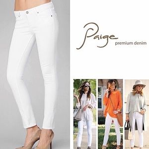Paige Kylie Optic White Crop Jeans